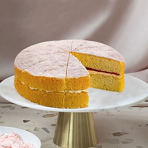 Raspberry Victoria Sponge Cake Delivery UK