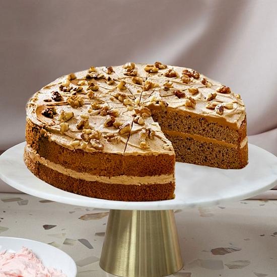 Coffee and Walnut Sponge Cake Delivery UK