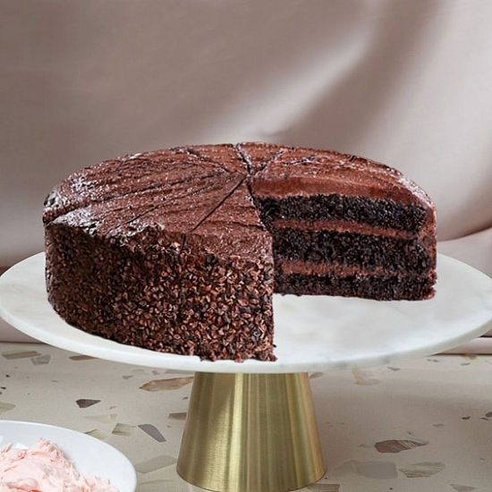 Vegan Belgian Chocolate Fudge Cake Delivery UK