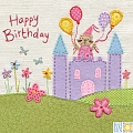 Castle Birthday Card