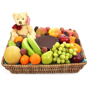 Premium Celebration Fruit Basket delivery to UK [United Kingdom]