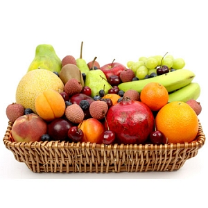 Cherry Berry Fruit Basket Delivery To UK