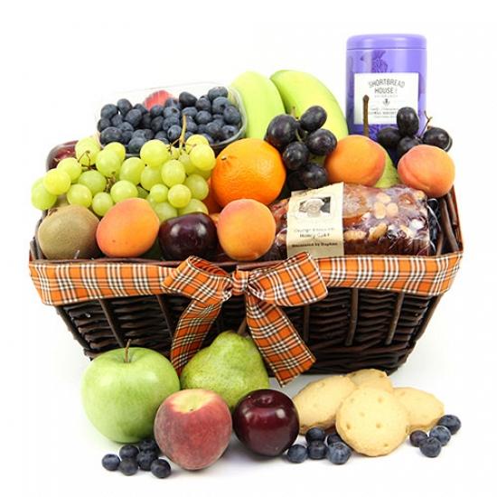 Baker Treat Fruit Basket Delivery to UK