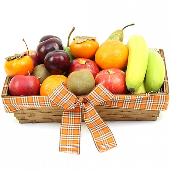 Deluxe Indulgence Fruit Basket Delivery to UK