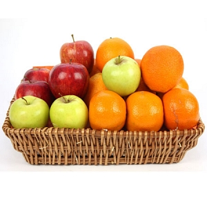 Crunchy Apples and Orange Fruit Basket