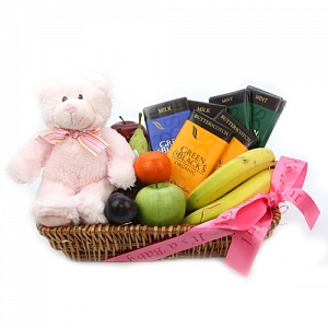 Green & Black Baby Girl Hamper delivery to UK [United Kingdom]