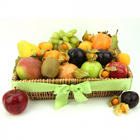 Winter Charm Fruit Basket delivery to UK [United Kingdom]